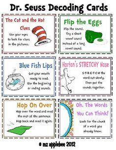 Dr. Seuss Decoding Cards
