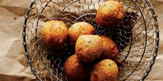 Hush Puppy Recipe | Garden and Gun  In one bowl, place dry mix: 2½ cups fine-ground cornmeal (white or yellow) ½ cup all-purpose flour 1 tbsp. baking powder ½ tbsp. sugar ½ tbsp. ground black pepper ½ tbsp. salt, ¾ tsp. baking soda ½ tsp. cayenne pepper  In another bowl, place wet mix: 3 eggs (lightly beaten) 1½ cups buttermilk ¾ cup chopped scallions