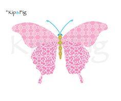 butterfly applique template - pdf applique design. £1.50, via Etsy. © Kip & Fig 2012