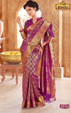 Vivaha Branded Wedding Silk Saree VBBS5016