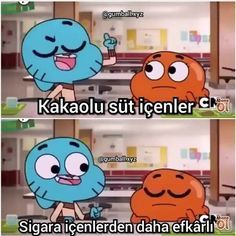 Cartoon Memes, Funny Cartoons, Darwin Gumball, Funny Images, Funny Photos, Comedy Pictures, Some Sentences, World Of Gumball, Vintage Cartoon