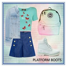"""""""Platform Boots"""" by marshmallowgoddess ❤ liked on Polyvore featuring Pilot, CO, Timberland and rag & bone"""