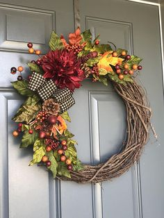 fall wreaths Fall wreaths for front door wreaths for front door fall Elegant Fall Wreaths, Autumn Wreaths For Front Door, Easy Fall Wreaths, Diy Fall Wreath, Fall Door, How To Make Wreaths, Holiday Wreaths, Door Wreaths, Yarn Wreaths