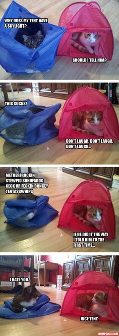 Tents are dumb and take forever to put up. | 18 Things Only People Who Hate Camping Understand
