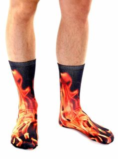 SESY Flaming Guitar Unisex Crew Socks Short Sports Stocking