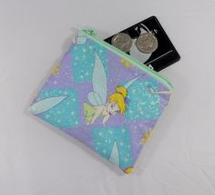 Glittered Tinkerbell Fabric Coin Purse - Free PP £5.00