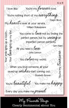 Clearly Sentimental about You - Clear Stamps