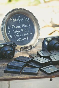 photo #guestbook signage - Amelia Lyon Photography - http://ruffledblog.com/elegant-rustic-malibu-wedding/
