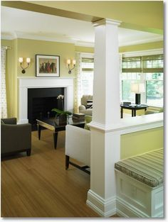 ok not a huge fan of the color, but I like how the family room is somewhat open, but yet it's not one big open space.