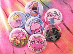 Super Rad Buttons YOUR CHOICE OF 5 by TheTinyHobo on Etsy, $10.00