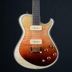 Knaggs Guitars Kenai T2 Double Purf in Orange Wickedburst, P90s