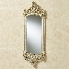 """Lela Silver Gold Acanthus Wall Mirror $86  11.5""""Wx1.5""""Dx32""""H."""