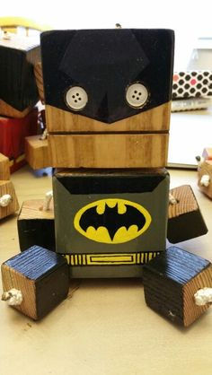 Batman - wood toy, natural wood, wood robot, DIY toy #woodtoy