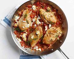 Piletina sa feta sirom i paradajzom - http://www.domacica.com/piletina-sa-feta-sirom-i-paradajzom/