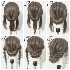 Simple hairstyles medium length hair - New hairstyles 201 .- Einfache Frisuren mittellanges Haar – Neu Haare Frisuren 2018 Simple hairstyles medium length hair hair it Yourself hair - Braided Hairstyles For Wedding, Up Hairstyles, Hairstyle Ideas, Easy Formal Hairstyles, Wedding Hairstyles Tutorial, Easy Homecoming Hairstyles, Super Easy Hairstyles, Waitress Hairstyles, Step By Step Hairstyles