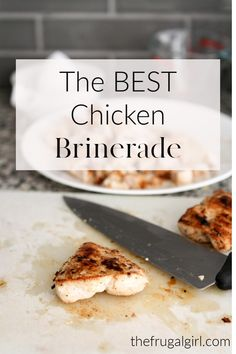 A quick and easy brine/marinade makes chicken juicy, tender, and flavorful. Say goodbye to dry chicken! Brining Chicken, Quick Chicken Brine, How To Cook Chicken, Cooked Chicken, Whole30 Recipes Lunch, Entree Recipes, Grilling Recipes, Brine Recipe, Easy Whole 30 Recipes