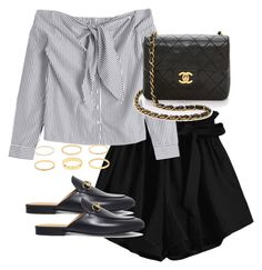 """""""Untitled #4350"""" by theeuropeancloset on Polyvore featuring Chanel and Gucci"""