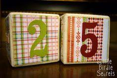 Little Birdie Secrets: christmas countdown blocks