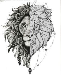 -Slowly fade wave from one side to other -Make chin even -Make hair line arches even -Gentle fade in the middle of bold distinction? Should manes be same size? M Tattoos, Head Tattoos, Life Tattoos, Sleeve Tattoos, Sketch Tattoo Design, Tattoo Designs, Father Son Tattoo, Geometric Shapes Art, Lion Sketch