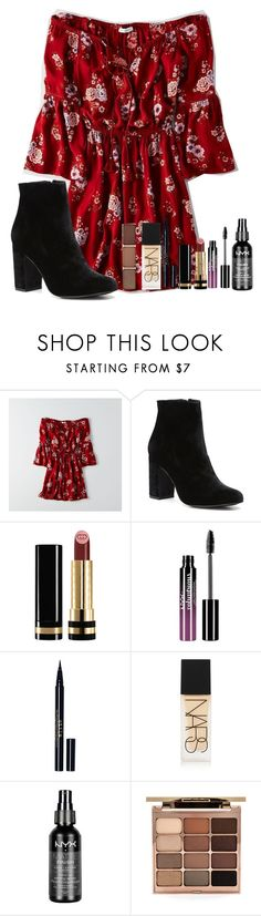 """""""Justine DeCody inspired summer outfit"""" by j-j-fandoms ❤ liked on Polyvore featuring American Eagle Outfitters, Witchery, Gucci, Charlotte Russe, Stila, NARS Cosmetics, NYX, batesmotel and JustineDeCody"""