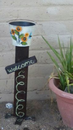 Cute Outside Ashtray To Keep The Yard Clean