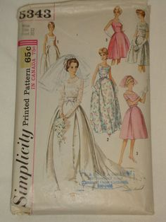 1963 Vintage COMPLETE Simplicity Pattern 5343 by GreatfindGallery, $15.00