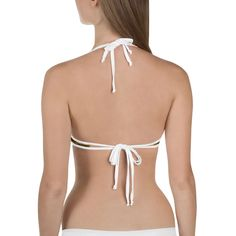 (1) Orange Tiger Stripe Bikini Top, Reversible Women's Animal Print Swim T – Heidi Kimura Art LLC
