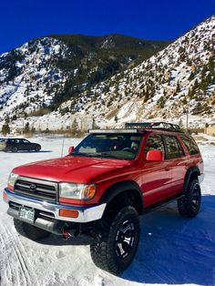 On the lake at Georgetown Colorado. We participated in the ice races that day. There was about 150 vehicles on the frozen lake that day. Toyota 4runner Trd, Toyota 4x4, Toyota Trucks, Toyota Runner, Toyota Surf, 3rd Gen 4runner, Buick Envision, Audi Allroad, Dream Car Garage
