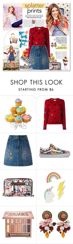 """splatter prints"" by mery90 ❤ liked on Polyvore featuring OPTIONS, Wilton, Burberry, Alice + Olivia, Vans, Marc Jacobs, Red Camel, Urban Decay, Dolce&Gabbana and Kevyn Aucoin"