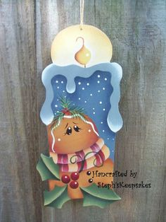 M Gingerbread Crafts, Christmas Gingerbread Men, Gingerbread Decorations, Christmas Wood, Christmas Baubles, Christmas Decorations, Pintura Country, Painted Jars, Country Paintings