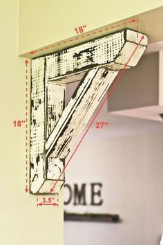 Diy wood projects Rustic house Farmhouse decor Wood diy Easy home decor Home diy - Rustic Large Corbel - Diy Home Decor Rustic, Easy Home Decor, Farmhouse Decor, Farmhouse Trim, Farmhouse Style, Modern Farmhouse, Farmhouse Furniture, Farmhouse Ideas, Rustic Furniture