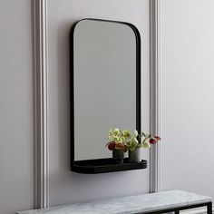 Ledged Mirror | west