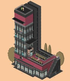 Quirky Architectural GIFs That Turn Letters Into Buildings