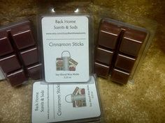 Cinnamon Sticks Tarts Melting Wax by BackHomeScents on Etsy, $3.00