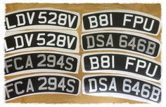 scooter number plate decals x2 comes in black gloss with SILVER gloss lettering   | eBay