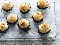 Chocolate-Dipped Macaroons