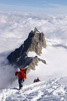 Aiguille du Midi near Chamonix, France (by nakwoodford).