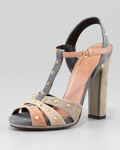 Gucci - Studded Suede Sandal