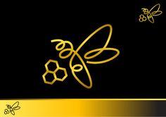 "Лого дизайн за ""Golden Bee"" продукти за хранит. фирма Foodland ( спечелен конкурсен проект от 99designs) / Logo design for ""Golden bee"" products for Foodland company (99design won contest project)"