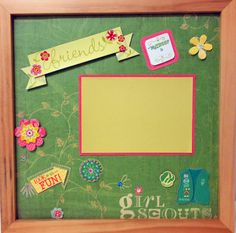 Girl Scout Scrapbook Page (