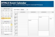 Weekly event calendar with CSS themes, drag and drop support, date navigator.NET MVC projects with AJAX backend implementation. Javascript Cheat Sheet, Open Source, Event Calendar, Schedule, Web Design, Coding, Computer Science, Programming, Detox