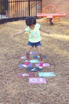How to Make a Hopscotch for a Playground or your Backyard by The Persimmon Perch