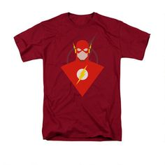 The Flash Simple Flash Adult Cardinal T-Shirt |