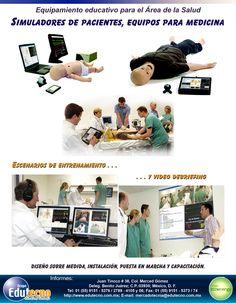 Equipamiento educativo para el área de la salud. Simuladores de pacientes, equipos para medicina, escenarios de entrenamiento, video debriefing.