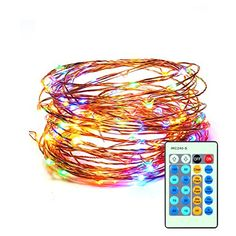 CREATIVE DESIGN Starry String Light 150 LEDs 74ft Dimmable Copper Wire Light with Remote Control Waterproof String Light for Party Holiday Christmas Garden Weeding Decoration Multicolor * Click image to review more details.