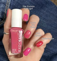 The Essie Expressie collection is known for their great formulas, beautiful colors, and they dry so fast! Check out my Essie Expressie comparisons here! Sinful Colors Nail Polish, Nail Polish Dupes, Nail Colors, Gel Polish, Essie Polish, Nail Polishes, Dry Nails, Uv Gel Nails, Gel Manicure