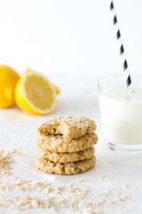 Lemon honey oatmeal cookies (without refined sugar)