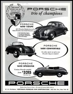 Porsche 1600 Ad by montanaman1, via Flickr