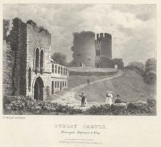 Dudley Castle. Principal Entrance and Keep mid 19th century