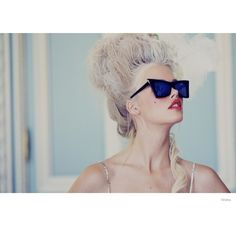 Wildfox Launches Marie Antoinette Inspired Sunglasses Lookbook ❤ liked on Polyvore featuring models